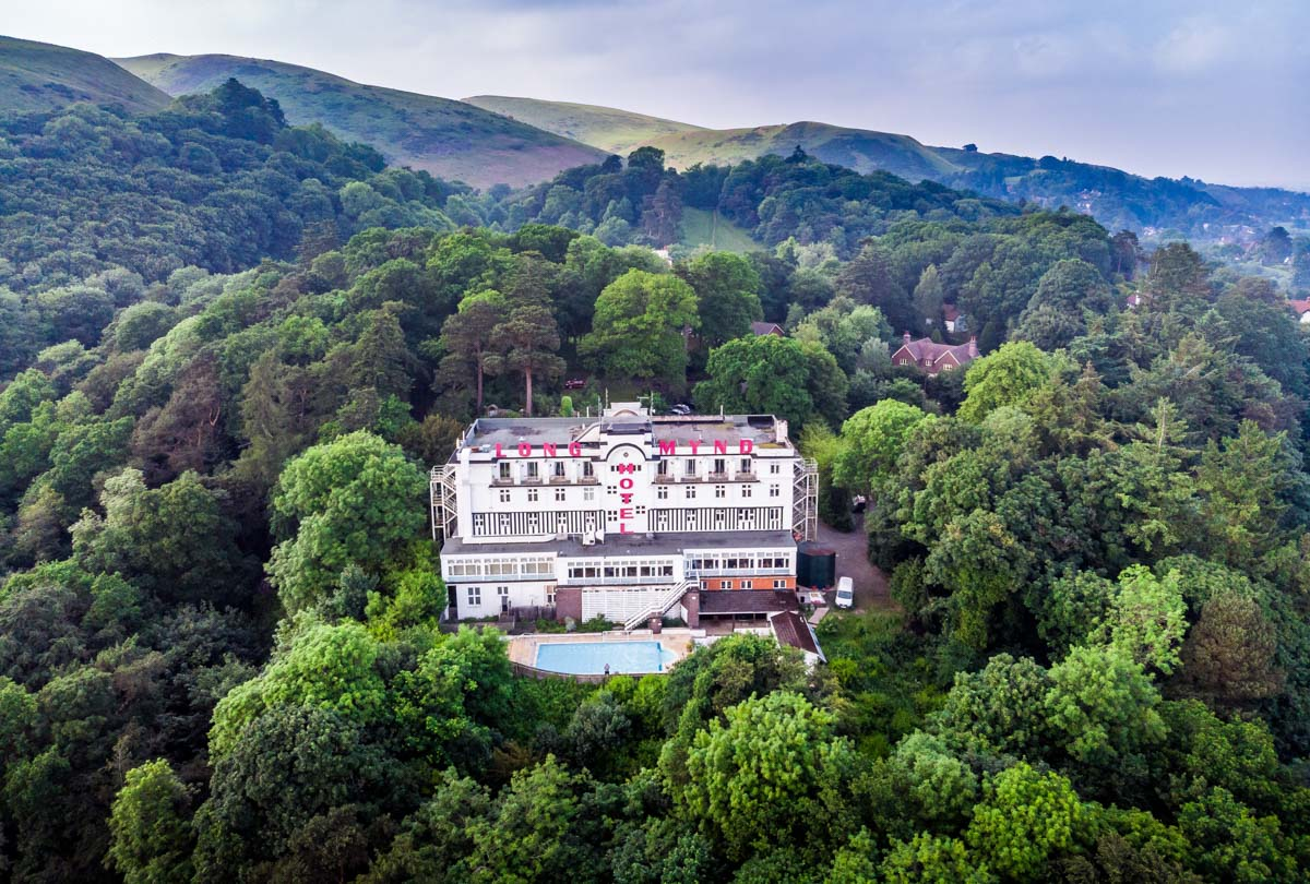 DJI_0774 Longmynd House - Gateway To The Shropshire Hills