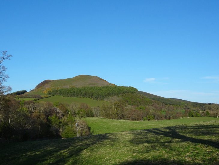hills beside the A68 road