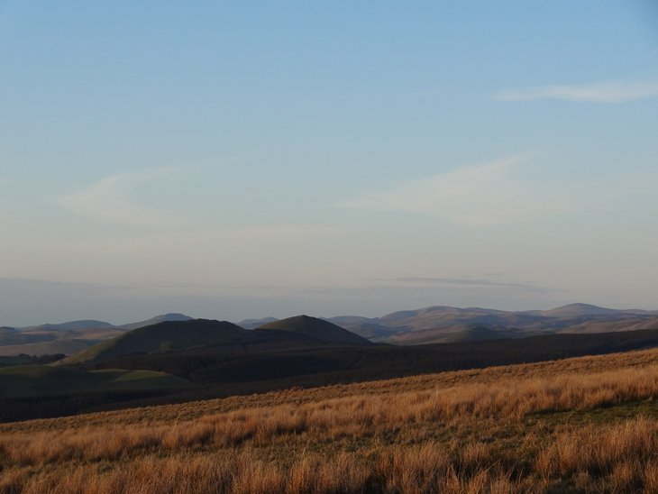 Looking Over The Scottish Borders From England