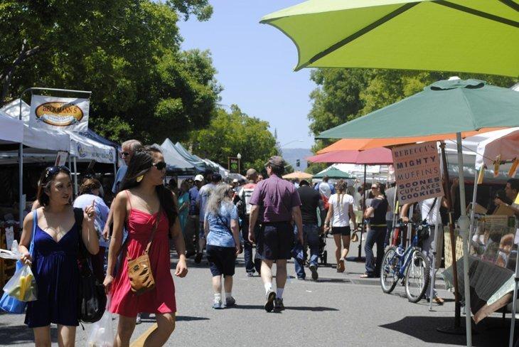 A California Farmers' Market Summer Berry Tart