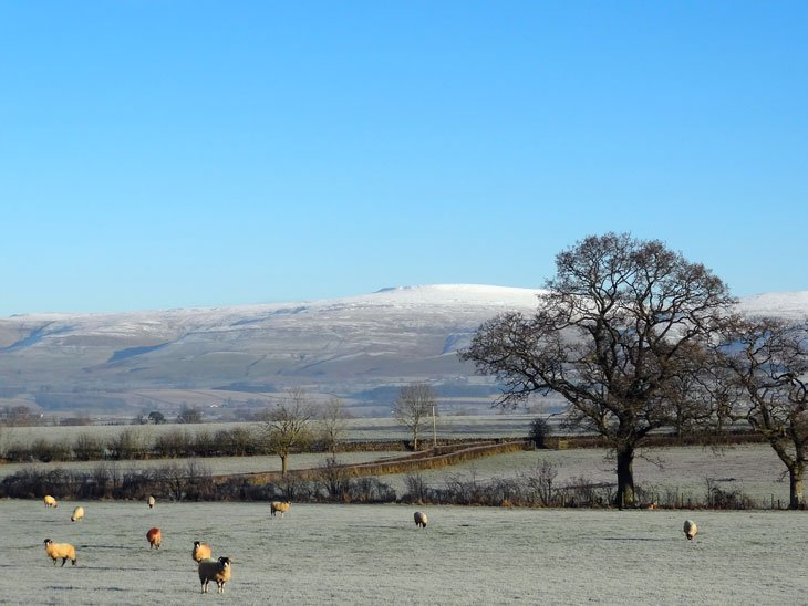 Cross Fell covered in snow