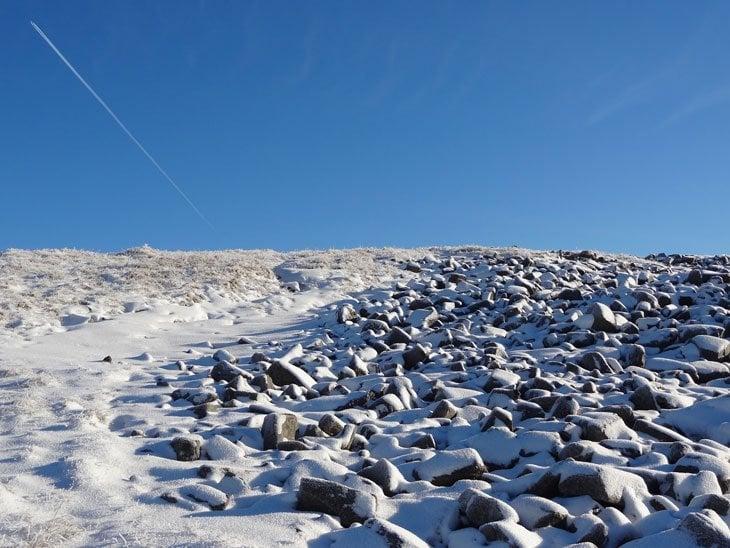 near the summit plateau