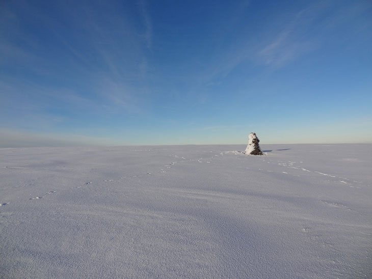 cross fell trig point on summit