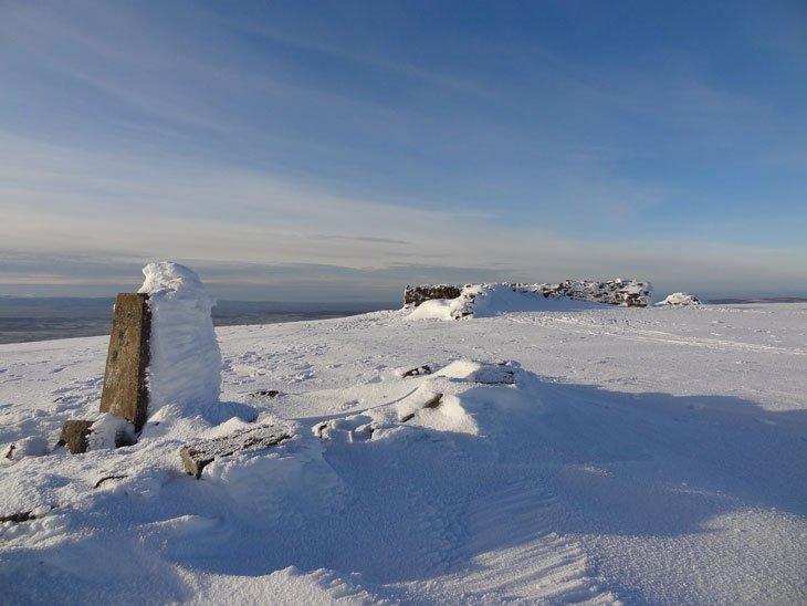 on the summit of Cross Fell