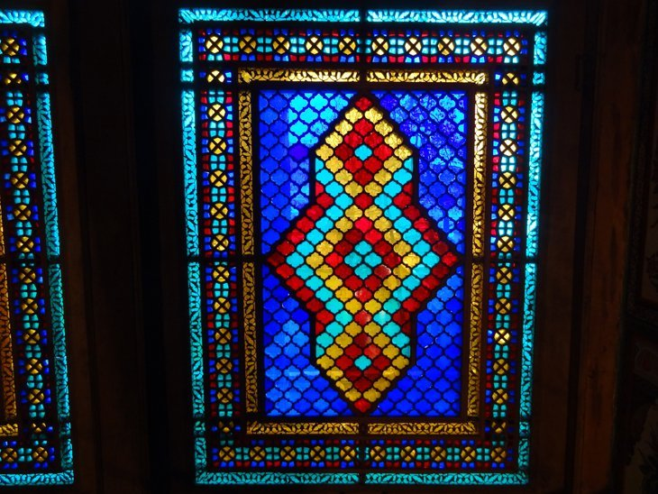 coloured glass and light