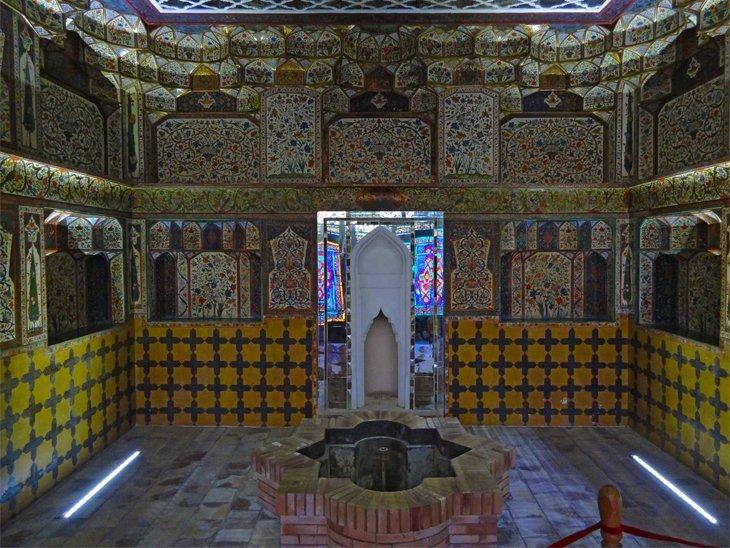 natural spring inside Sheki Kahn's Palace