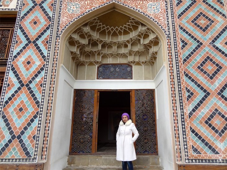 the guide at Sheki Kahn's Palace