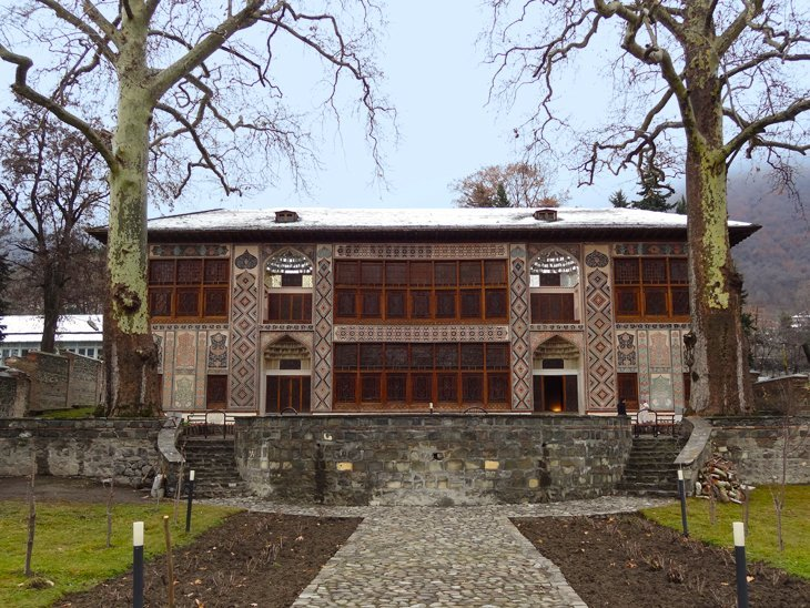 frint view of Sheki Kahn's Palace Azerbaijan