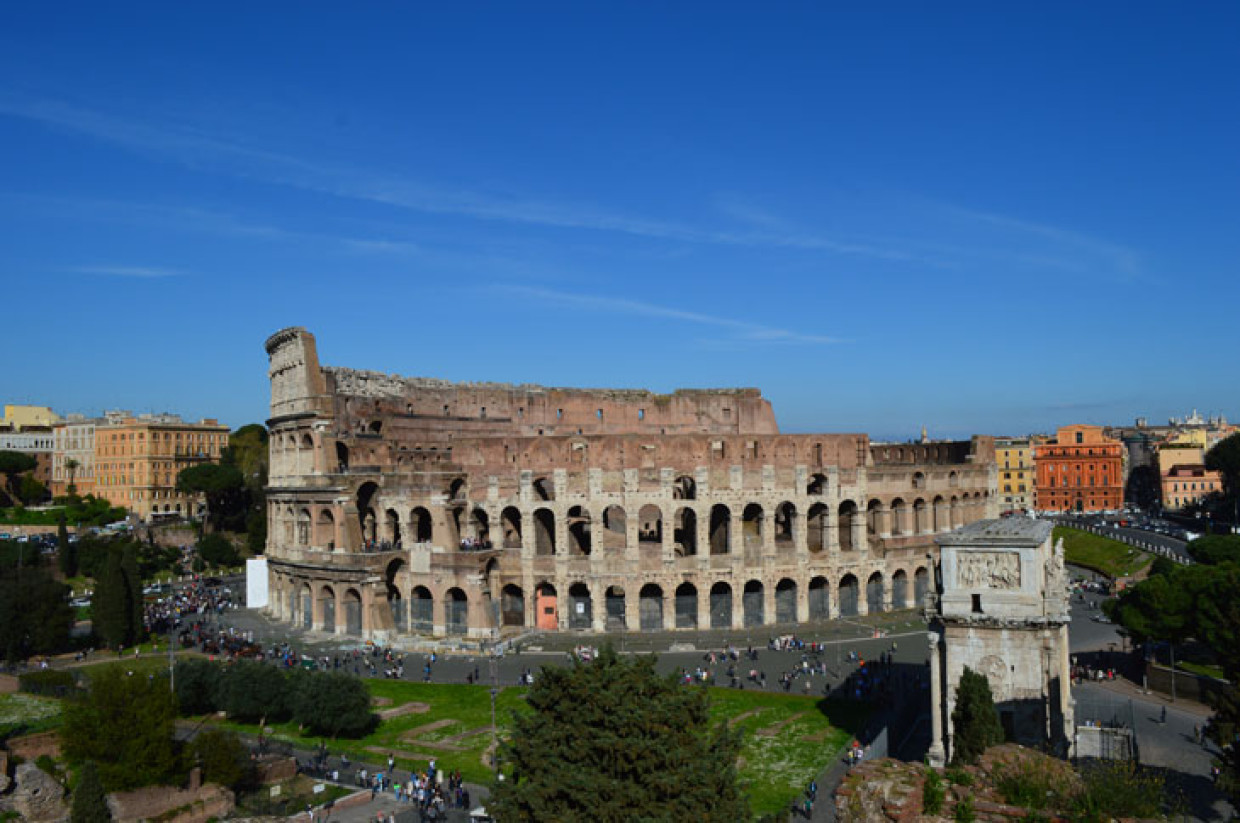 Looking Over Ancient Rome From Palatine Hill