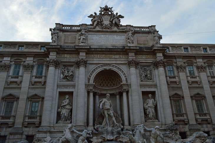 Rome - Passing By The Trevi Fountain