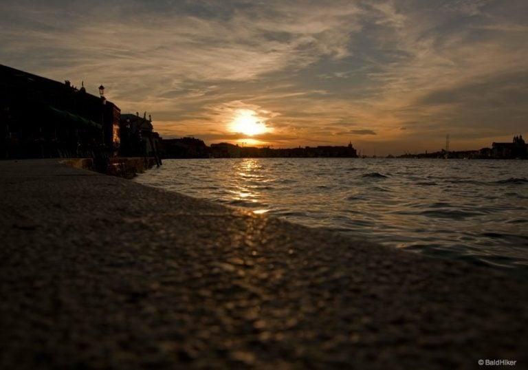 A Venice sunset on the Island of Giudecca