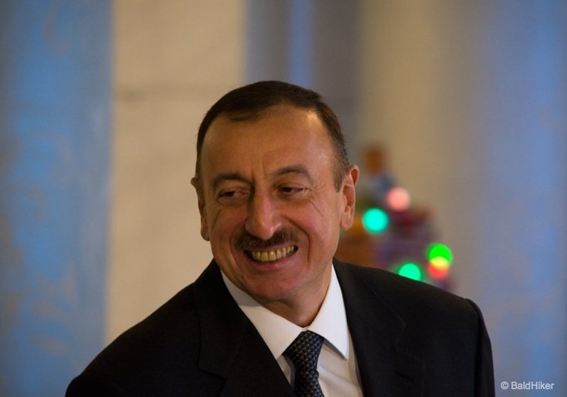 A meeting with the President of Azerbaijan