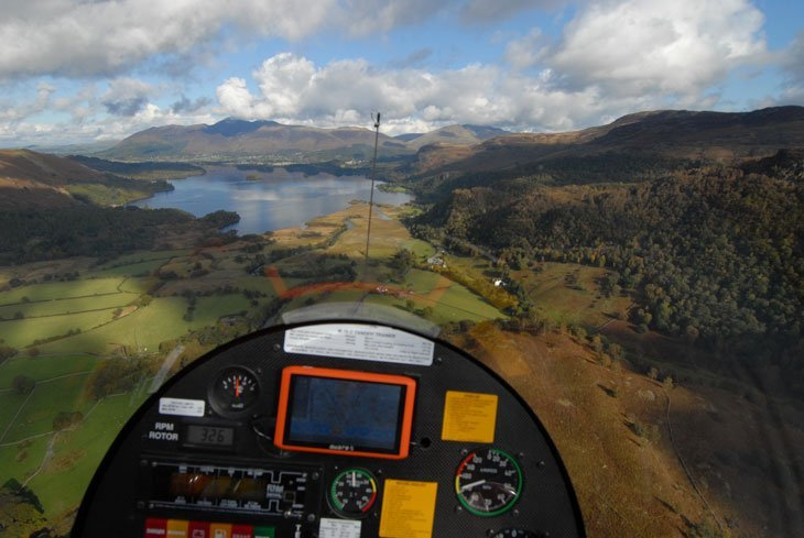 Flying over the lakes