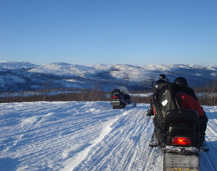 Norway - Alta, Snow Scooter Safari and Nice Ice