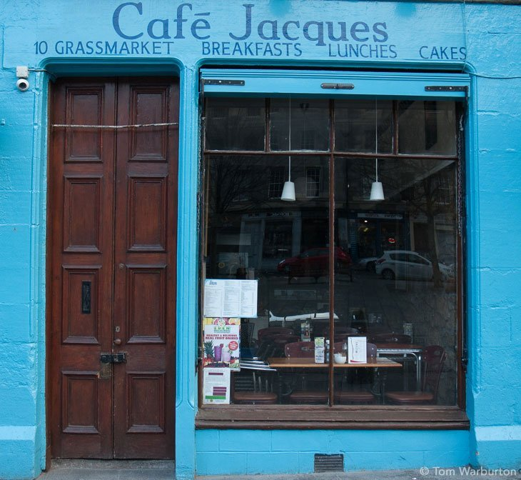 Cafe Jacques in the Grassmarket