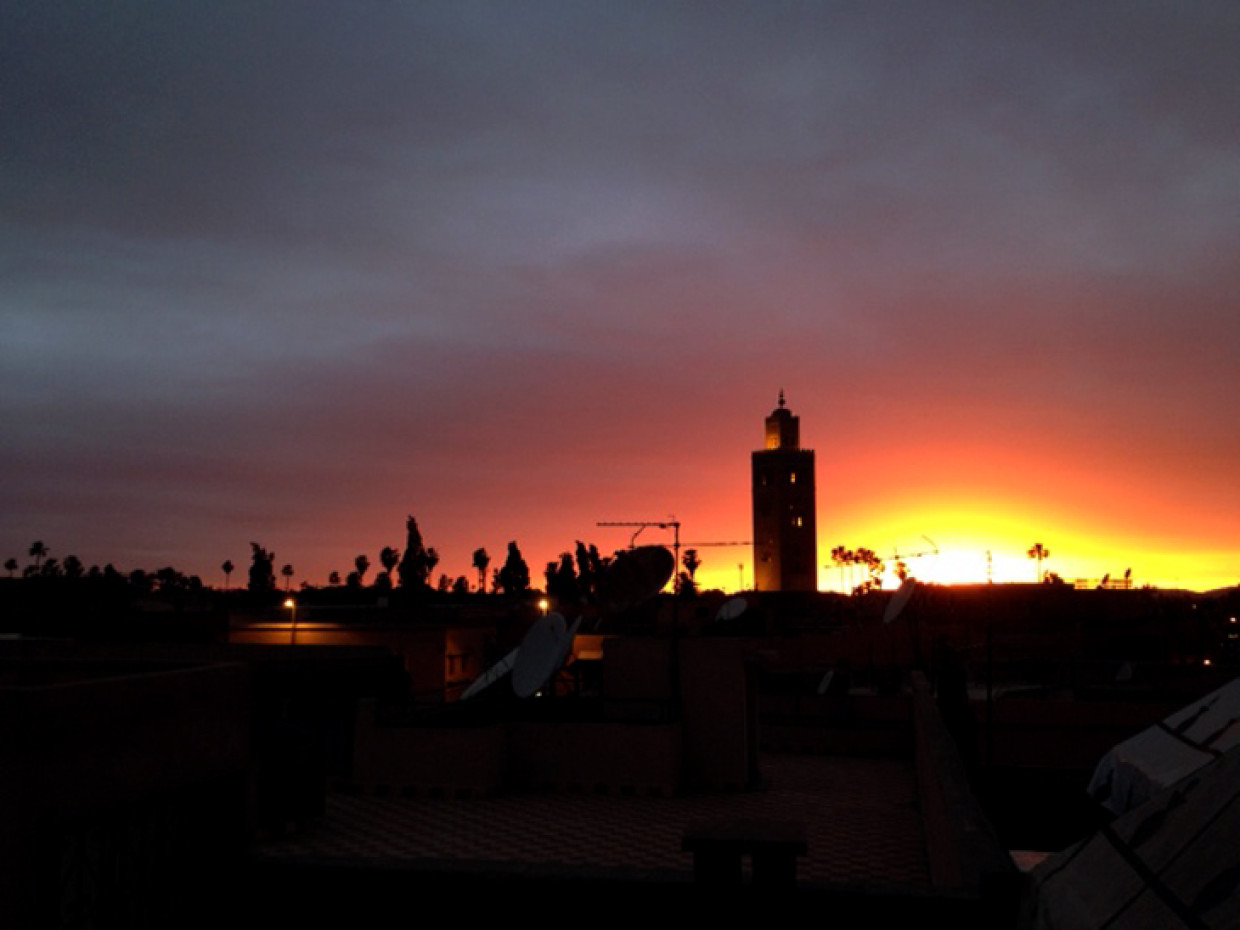 Good good evening from overlooking Marrakech :D