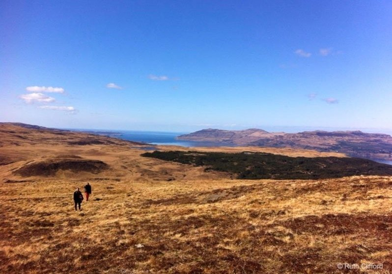 It's the people not the place - britain - family walking mull
