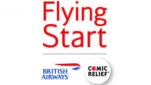 FlyingStartLogo Laugh High Above the Clouds with Comic Relief