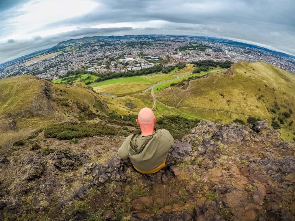 View of Edinburgh from Arthur's Peak