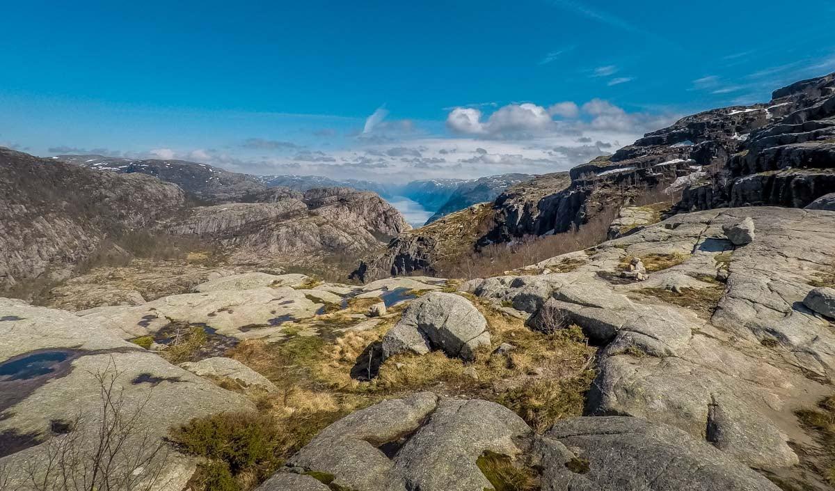 walking above Lysefjord