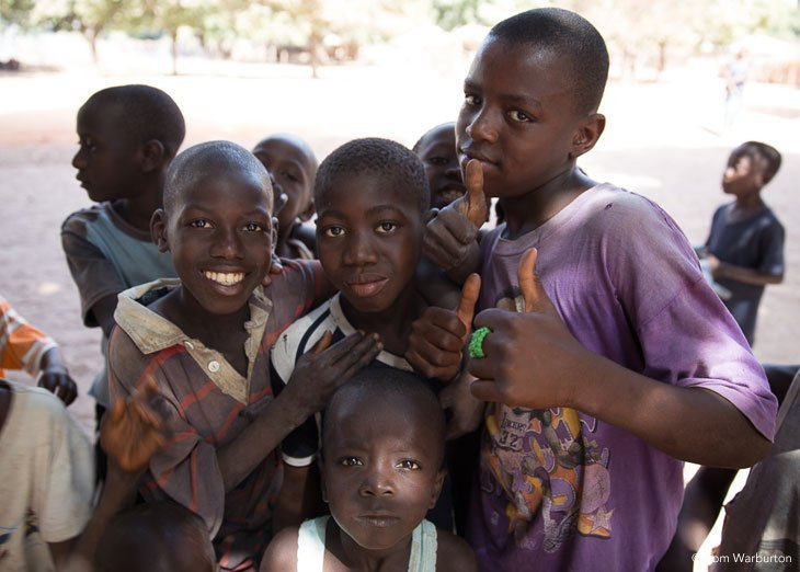 Gambia - village children