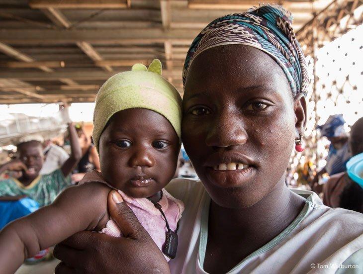mother and baby Birkama Market