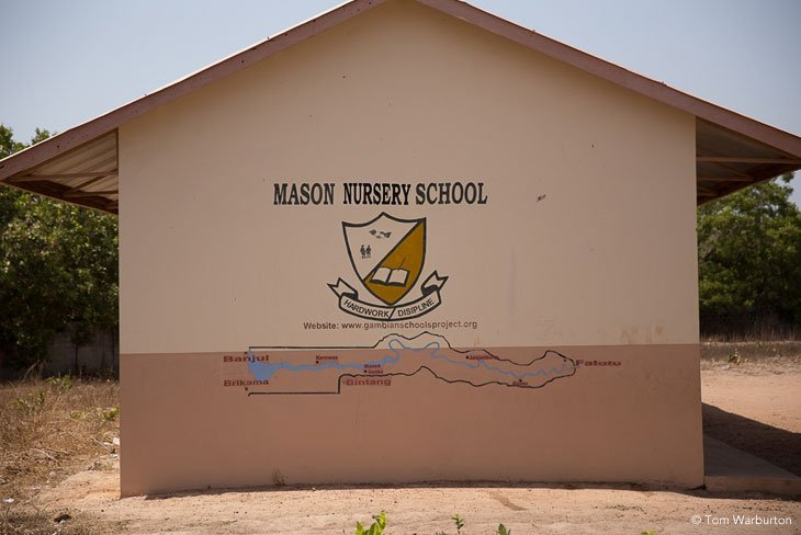 wall of Mason Nursery School