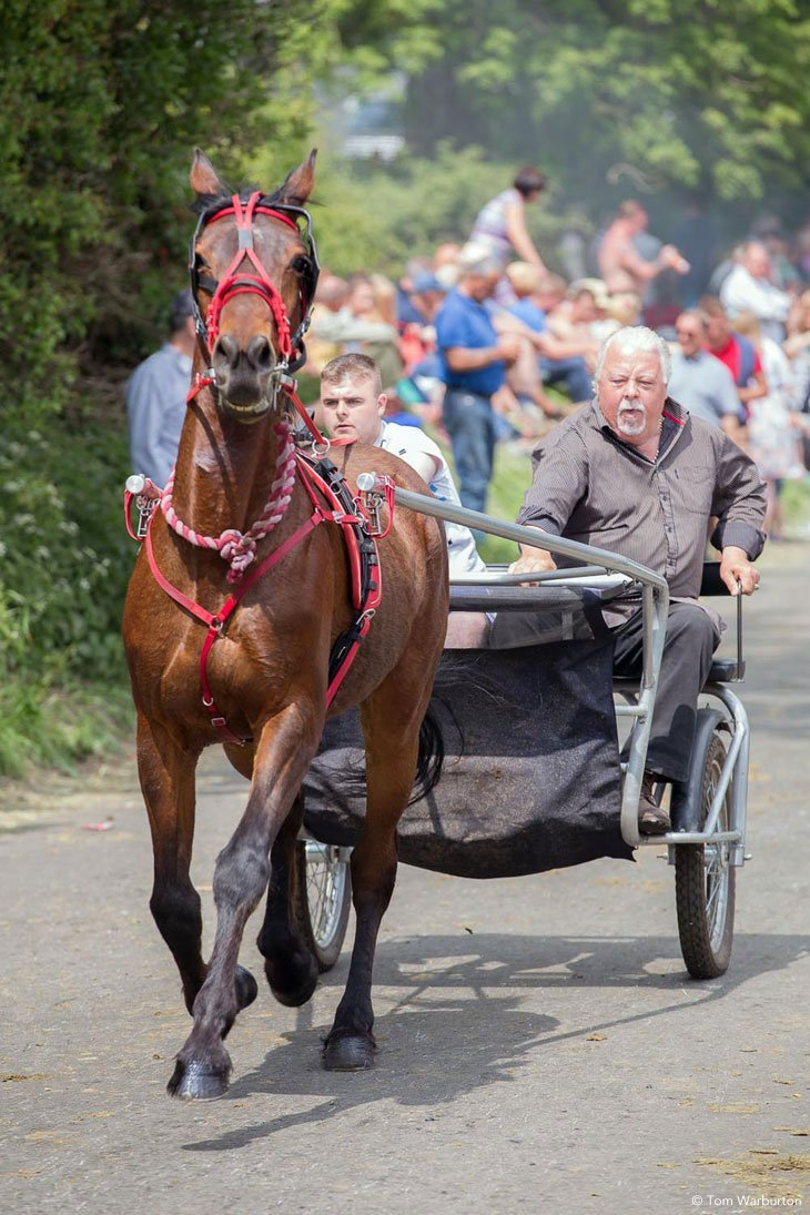 Appleby Horse Fair - Trotting and Racing The Flashing Lane