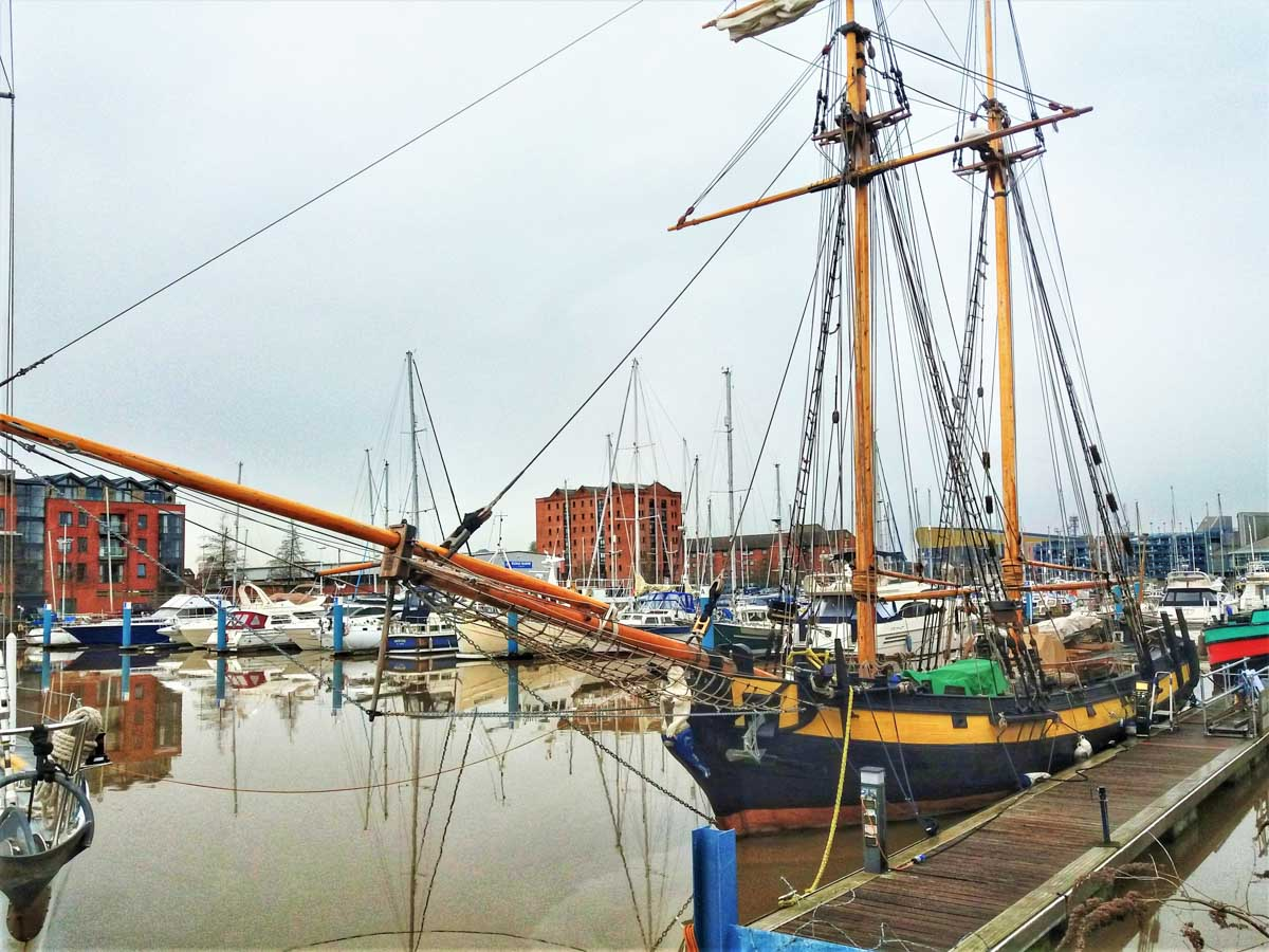 HMS-Pickle-replica Hull Marina and A Walk Through the Cobbled Streets