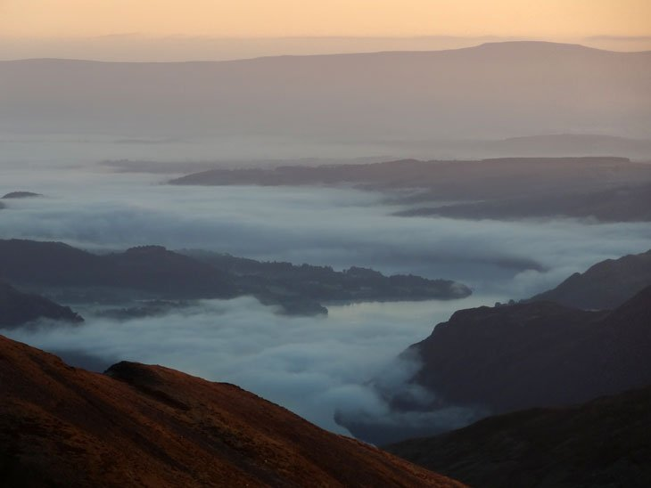 Mist below over Ullswater