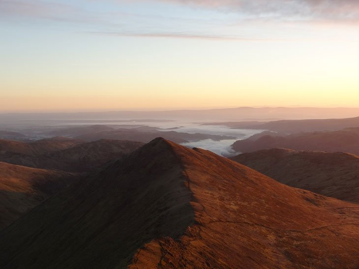 sunrise striding edge