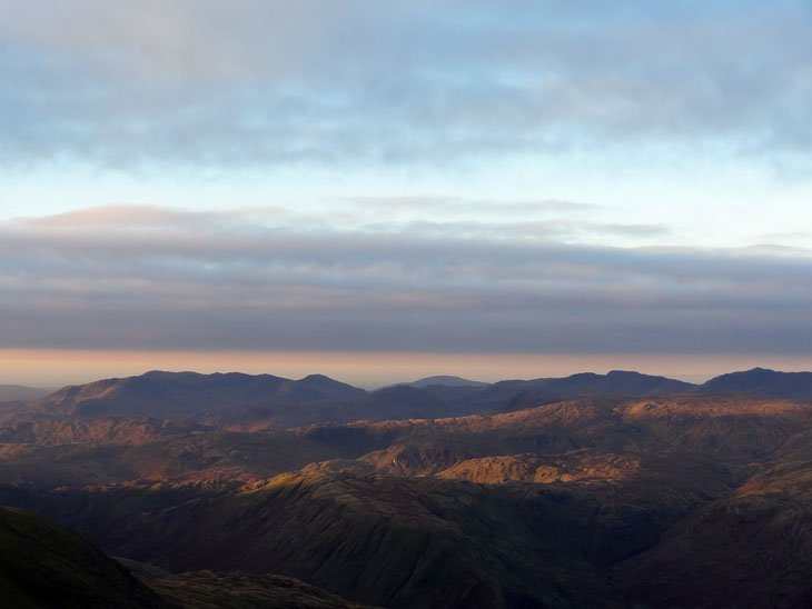 a lake district mountain panorama