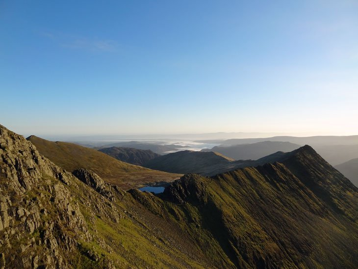 looking back at Striding edge