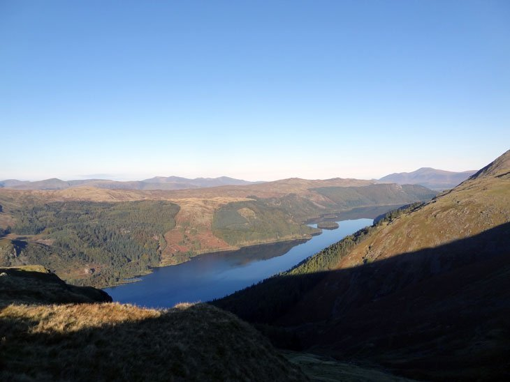 looking down on Thirlmere