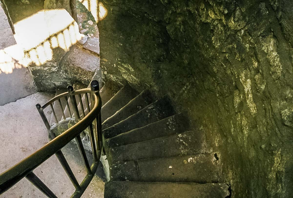 stone steps inside