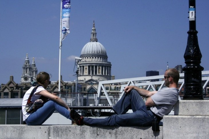 Sunny Days By The River Thames