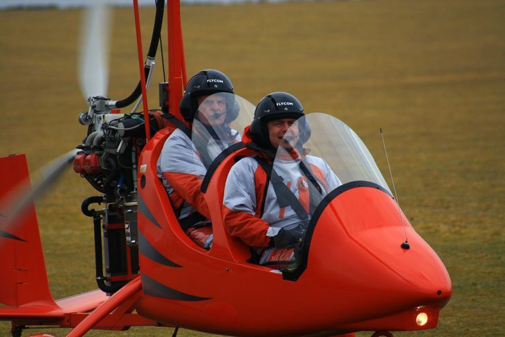 ready for take off in Gyrocopter