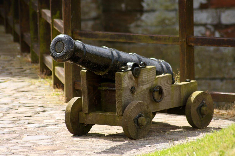 cannon at Caerlaverock Castle