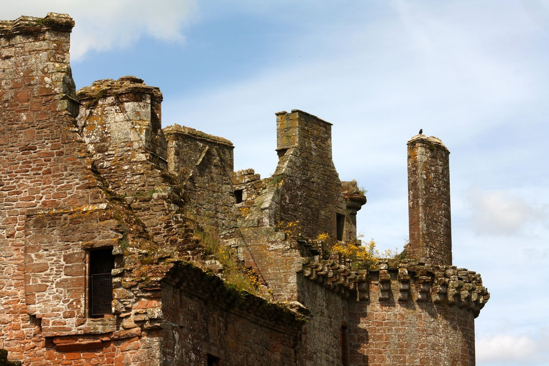 ruins of Caerlaverock Castle scotland