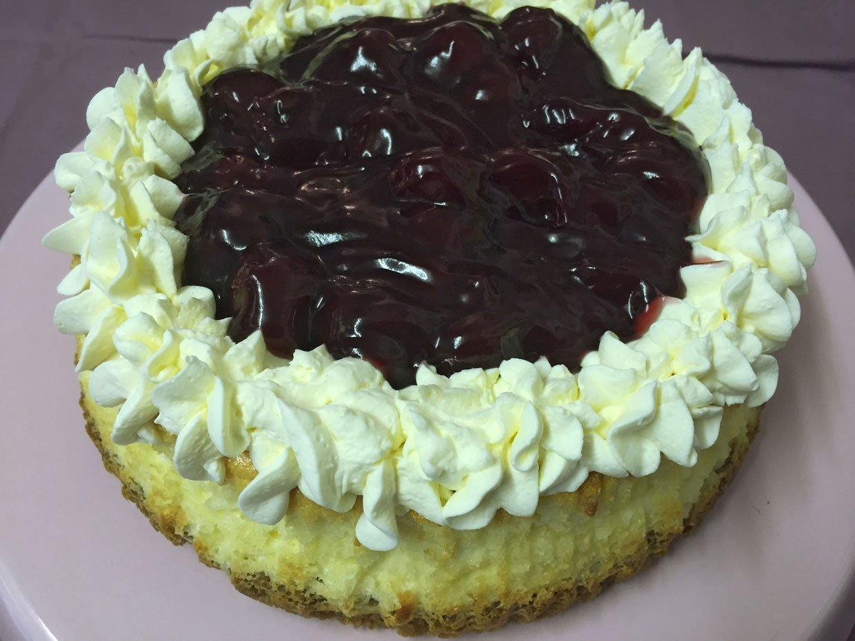 Baked Black Cherry Cheesecake