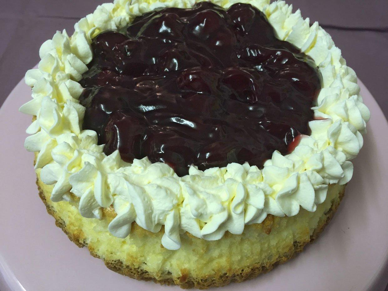 Baked Black Cherry Cheesecake 1