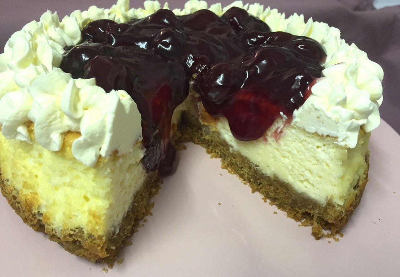 Baked Black Cherry Cheesecake