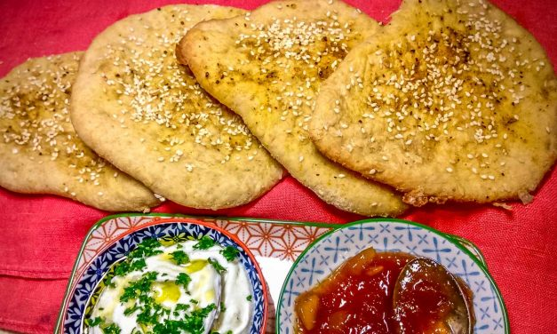 Moroccan Spiced Flatbread with Dips