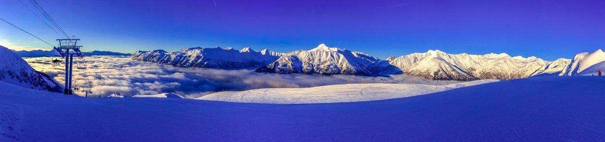 alaska panorama in winter