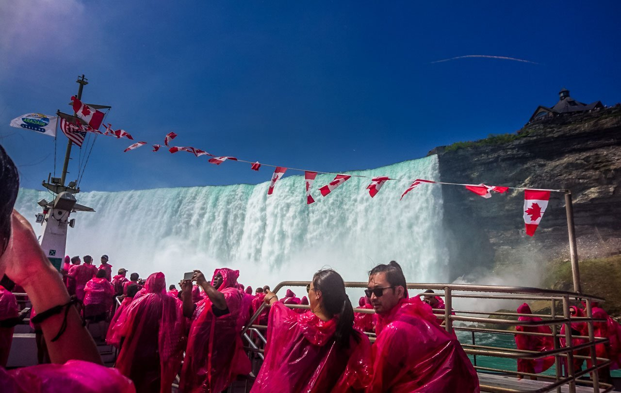 In-the-mist-on-the-Hornblower Niagara Falls, an Experience with Memories to Treasure