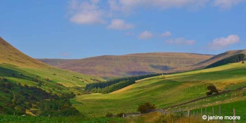 Into-the-valley-wales The Legend of the Welsh Black Mountains