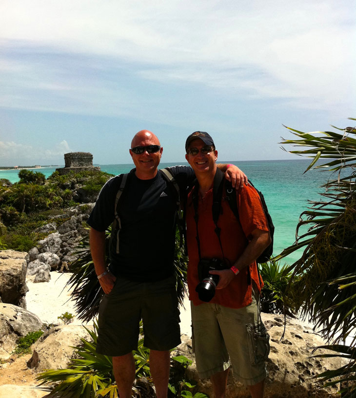 JdandPaul Mexico   Hello to The Riviera Maya and The Tulum Ruins