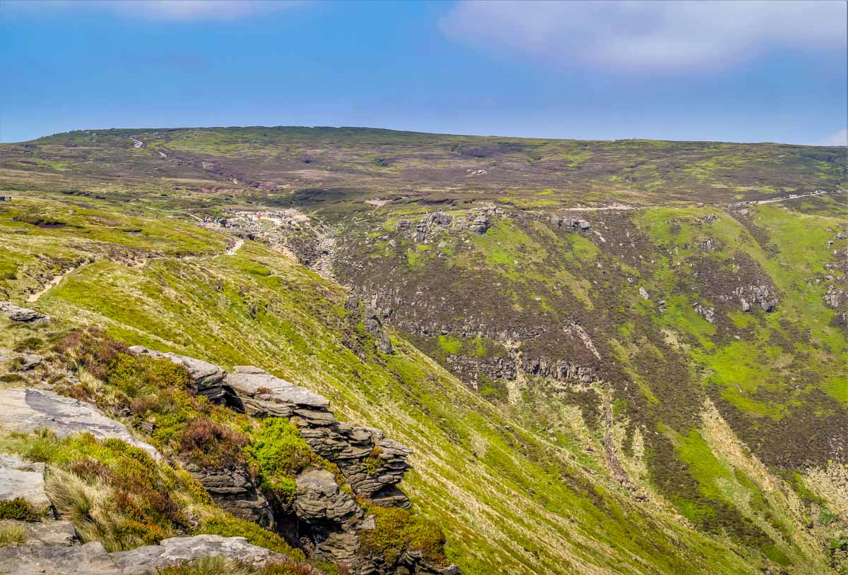 Kinder Scout via Grindsbrook Clough, Peak District