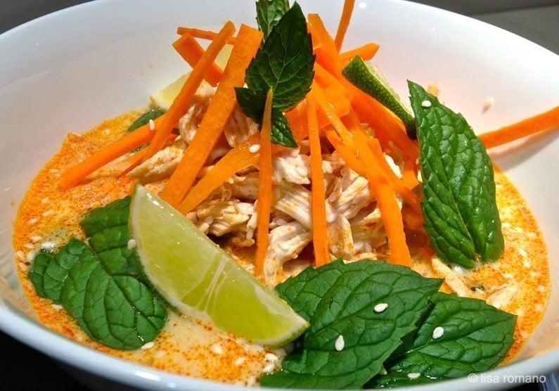 Poached Chicken Laksa Recipe 1