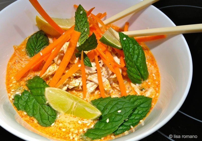Poached Chicken Laksa